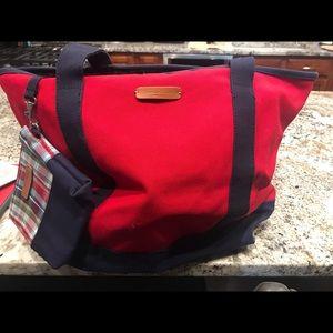 Eddie Bauer Canvas Bag w/change bag NWOT